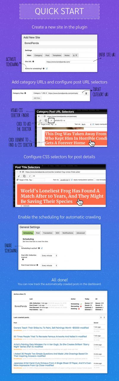 WP Content Crawler - Get content from almost any site, automatically! - 1